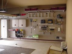 Garage is part of our home. We can build garage in semi or permanent way. If we will develop multifunction home garage designs, considering several factors Garage Tool Storage, Garage Organization, Organized Garage, Organization Ideas, Wall Storage, Workshop Organization, Storage Cabinets, Playroom Storage, Garage Shelving
