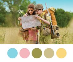 Wes Anderson Palettes. I'm obsessed with Wes Anderson's colour choices. Via Present&Correct
