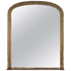 19th Century Large Gilt Overmantel Mirror | See more antique and modern Mantel Mirrors and Fireplace Mirrors at http://www.1stdibs.com/furniture/mirrors/mantel-mirrors-fireplace-mirrors