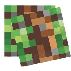 16 stk. servietter med kult motiv av pixler. Servietterne er ca 33 x 33 cm.  -minecraft -bursdag -barnebursdag - fest -party Picnic Blanket, Outdoor Blanket, Sissi, Rugs, Minecraft, Party, Home Decor, Farmhouse Rugs, Decoration Home