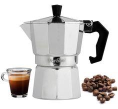 Italian Espresso Coffee Maker Macchinetta Stovetop 3 Cup Latte Cafetera Cubana #VonShef