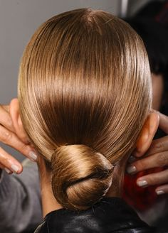 A wedding hairstyle that is sleek and oooozing chic