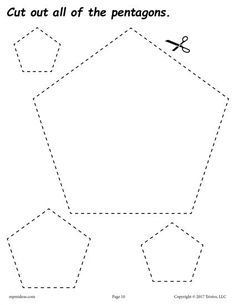 These shapes cutting worksheets for preschool and kindergarten are fun and easy to print and use! Even though these shapes worksheets were primarily created for cutting practice, they can also be used as shapes coloring pages and tracing worksheets. Numbers Preschool, Kindergarten Worksheets, Preschool Activities, Shape Activities, Learning Numbers, Physical Activities, Printable Shapes, Free Printable, Shape Tracing Worksheets