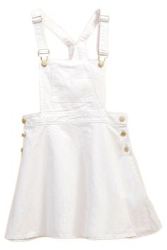 White Strap Loose Denim Suspender Skirt (might need 2 convince someone into buyin this for me ..!)