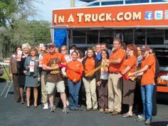 The Ribbon Cutting at our local chamber