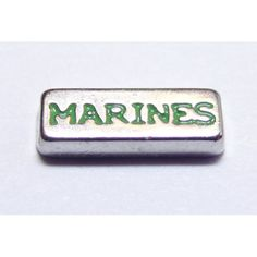 Marines Locket Charm that fits brands including Origami Owl & My Journey Locket. Enamel Marines on zinc alloy. Great looking charms that don't cost a fortune.