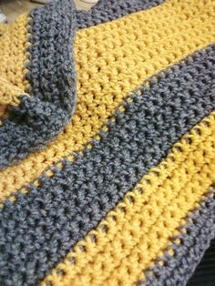 Baby Afghan... I like the contrast with the gray.