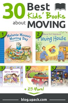Moving is a big deal for anyone, but it can be especially tough on little ones. Check out this list of the best kids' books about moving--stories and activities great for children, ages Pre-K to 12! #moving #movingwithkids #movingtips
