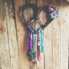 GYPSY DREAM Love Heart Wreath Peace Dream Catcher by Run2theWild