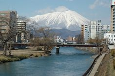 A view of Iwate-san from Morioka