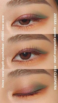 Eyeshadow Makeup, Makeup Cosmetics, Eyeshadow Palette, Eyeshadows, K Beauty, Beauty Makeup, Hair Makeup, Makeup Inspo, Makeup Inspiration