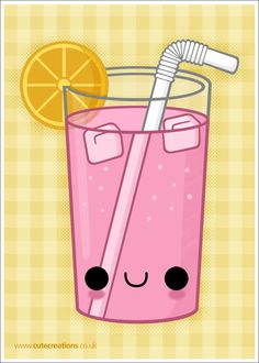 COMMISSION: Pink Lemonade by *Cute-Creations on deviantART #Kawaii #Draw…