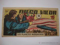 COMIC COMANDANTE ESPACIAL ESPACIO DIEGO VALOR Nº 56 DE LA COLECCION ORIGINAL DEL AÑO 1954. NO COPIA.