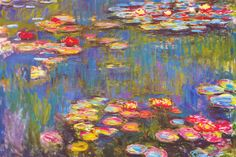 """Water Lilies, 1916"" - canvas print by Claude Monet"
