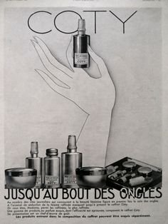 COTY nail polish, vintage advertising, French retro poster Coty advertisement original art deco poster, old magazine ad L'Illustration 1930 by OldMag on Etsy
