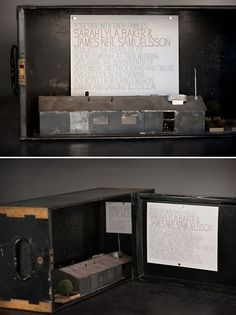Handdawn letterpress wedding invitation by Bella Figura