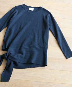 「french」裾リボンのアシンメトリーニットトップス11月15日22時販売新作