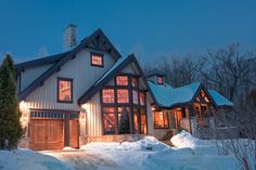 House in the Woods Custom Home Designs, Custom Homes, House In The Woods, Design Projects, House Design, Cabin, Mansions, The Originals, House Styles