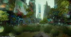 Image result for post apocalyptic landscape jungle