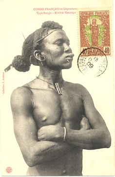 Vintage postcard from the Congo.