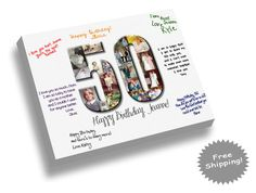 Birthday Canvas Print  Guest Book by YourMemoriesOnCanvas on Etsy