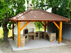 Kemax - Kunfehértói kerti konyha Outdoor Kitchen Patio, Pizza Oven Outdoor, Outdoor Kitchen Design, Outdoor Cooking, Backyard Projects, Outdoor Projects, Outside Living, Outdoor Living, Backyard Pavilion