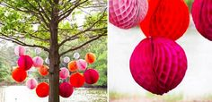 Trois types de pompons différents, tous en papier de soie, c'est le tuto Do It Yourself du jour pour donner à votre appart un air de fête !