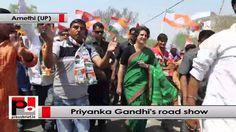 Priyanka Gandhi charms Amethi with an attractive road show