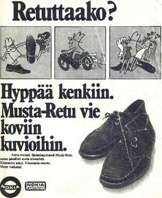 Näitä nuorison hittikenkiä Retuja valmistettiin vuodesta 1969 vuoteen 1973 (Retroaarteet-blogi)