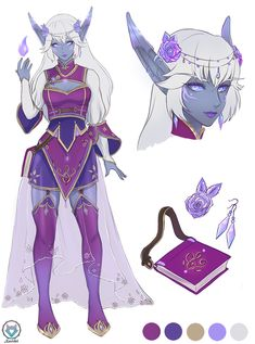 (Not my art) nightborne by kuridelblack Fantasy Character Design, Character Creation, Character Drawing, Character Design Inspiration, Character Portraits, Character Concept, Concept Art, Dungeons And Dragons Characters, Dnd Characters