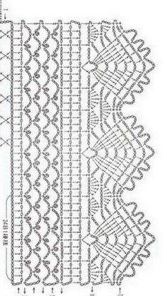 Best 12 Crochet Patterns Lace Crochet Lace Edging for Handtowel ~~ sandragcoatti – Salvabrani – SkillOfKing. Motif Bikini Crochet, Crochet Lace Edging, Crochet Motifs, Crochet Diagram, Crochet Chart, Crochet Trim, Filet Crochet, Crochet Doilies, Crochet Border Patterns
