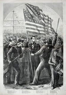 Abraham Lincoln and Civil War soldiers in the October 1, 1864 Harper's Weekly