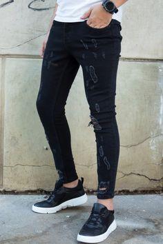 Blugi Slim COD 3368 Cod, Curly Hair Styles, Black Jeans, Hairstyles, Slim, Skinny, Pants, Fashion, Haircuts