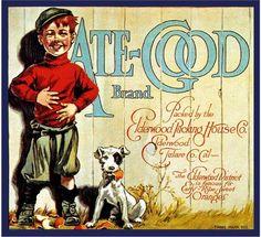 Elderwood, Tulare County Ate-Good Orange Citrus Fruit Crate Label Advertising Art Print