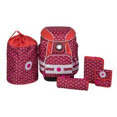 Lässig 4Kids School Set Dottie red #Lässig #SchultournisterSet #Ranzenset #Rot #Mädchen
