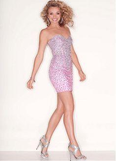 Chic Stretch Satin Sweetheart Neckline Short Sheath Homecoming Dress