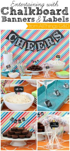 Entertaining with chalkboard banners & labels. | www.allthingsgd.com