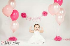 One year old girl photo shoot