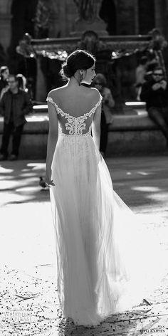 gali karten 2017 bridal off the shoulder v neck heavily embellished bodice tulle skirt romantic a  line wedding dress sweep train (1) bv -- Gali Karten 2017 Wedding Dresses | Wedding Inspirasi #wedding #weddings #bridal #weddingdress #bride ~