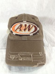 37894062 A W #RootBeer Hat Factory Distressed Promo Trucker Snapback Hat #Promo  #Trucker A&w Root