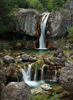 Never Stop Falling by Dimitrios P. - Orlias Gorge, Mt. Olympus, Pieria, Greece [photogrifos.deviantart.com]