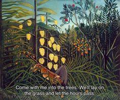 "DARTNESS on Instagram: ""Depeche Mode, Stripped // Henri Rousseau, Tropical Forest: Battling Tiger and Buffalo. #art #artoftheday #painting #rousseau #music #lyrics…"""