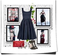 """""""BLACK DRESS"""" by sherry7411 ❤ liked on Polyvore"""