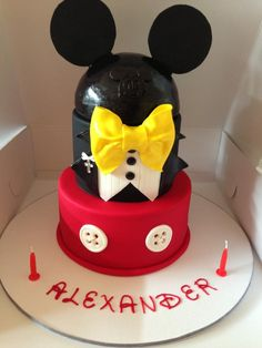 Mickey Mouse inspired cake, @ - Cake by Baked Stems