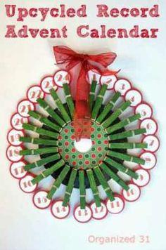 Upcycled Advent Calendar Organized 31