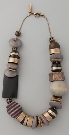 necklace chunky modern neutrals