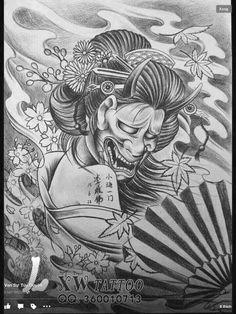 Geisha, Sailor Tattoos, Oriental Tattoo, Irezumi Tattoos, Cute Tattoos, Tattoo Inspiration, Samurai, Piercings, Stencils