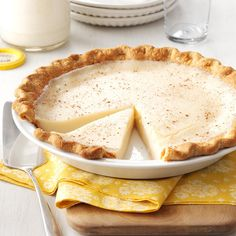 Sugar Cream Pie Recipe -I absolutely love Sugar Cream Pie and especially the one that my Grandma made for me. You can serve it warm; but I like it better cold so I refrigerate it for a couple hours before eating. —Laura Kipper, Westfield, Indiana