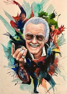 Comic Book Legend Stan Lee is no more with us. Stan Lee was one of the most famous comic book writes and publisher. Marvel Avengers, Avengers Comics, Ms Marvel, Dc Comics, Book Creator, Stan Lee, Comic Kunst, Comic Art, Fan Art