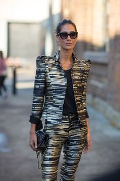 #STREET #STYLE: AUSTRALIA FASHION WEEK SPRING 2013. The best suit. ever.